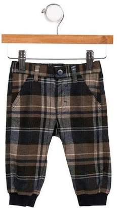 Il Gufo Boys' Plaid Joggers
