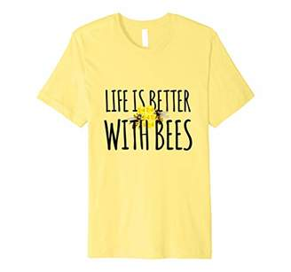 Life Is Better With Bees Funny Beehive Tee Beekeeper Gift