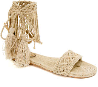 Max Studio jetty : braided linen crochet sandals