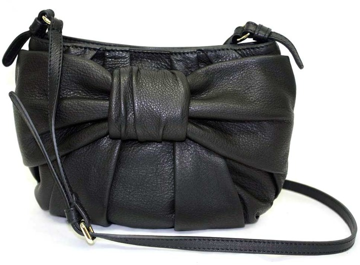 "Valentino FQB00322"" Black Leather Mini Shoulder/Cross-body Bag"
