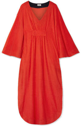 Splendid Margherita Capri Cotton And Modal-blend Terry Dress - Red
