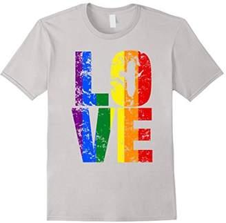 Big Texas Distressed LOVE LGBT Rainbow Pride T-Shirt