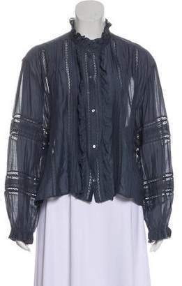 Etoile Isabel Marant Ruffled Lace-Trimmed Top