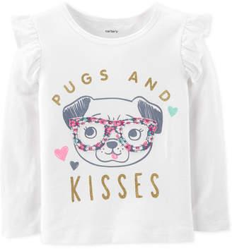 Carter's Carter Baby Girls Pugs-Print Cotton T-Shirt