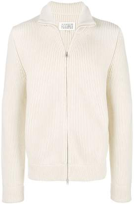 Maison Margiela mock neck zip front jumper