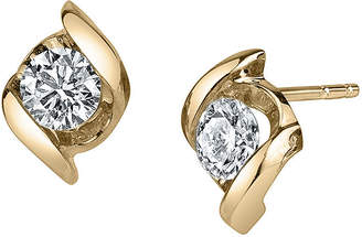 Sirena 1/3 CT. T.W. Round Diamond 14K Yellow Gold Earrings