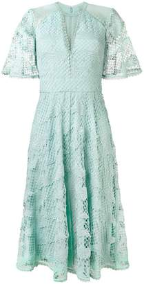 Temperley London lace midi dress