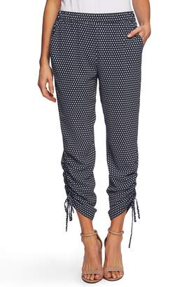 CeCe Garden Geo Ruched Ankle Pants