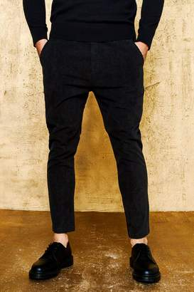 boohoo Woven Cord Tapered Jogger