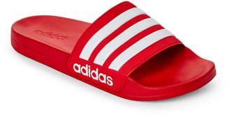 adidas Scarlet & White Adilette CF Slides