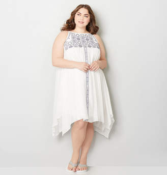 Avenue Embroidered A-Line Sundress