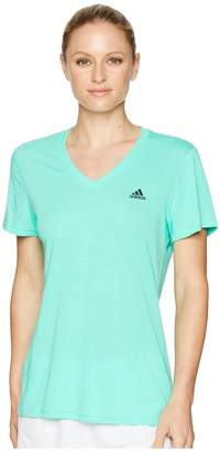 adidas Ultimate V-Neck Tee Women's Short Sleeve Pullover