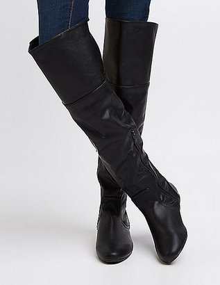 Bamboo Over-The-Knee Flat Boots $42.99 thestylecure.com