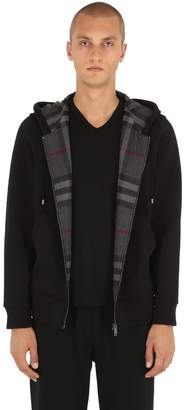 Burberry Zip-up Sweatshirt Hoodie W/ Check Lining