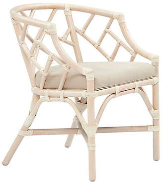 One Kings Lane Chippel Rattan Club Chair - Ivory