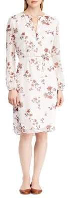 Lauren Ralph Lauren Floral Long-Sleeve Shift Dress