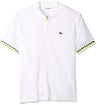 Lacoste Men's S/S 2 PLY Pique Slim FIT Striped Bottom Sleeve Polo