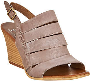 Miz Mooz Leather Slingback Wedge Sandals -Kenmare