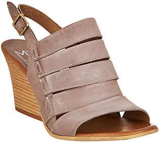 Miz Mooz Leather Slingback Wedge Sandals -Kenmare