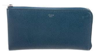 Céline Leather Zip-Around Wallet