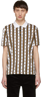 Versace White and Gold Neoclassical Polo