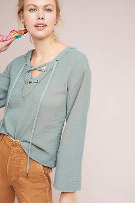 Cloth & Stone Lace-Up Top