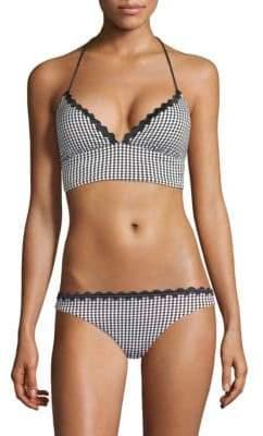 Shoshanna Gingham Bikini Top