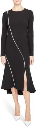 Rachel Roy Collection Piping Detail Side Slit Midi Dress