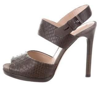 Reed Krakoff Python Ankle Strap Sandals