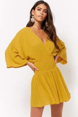 Forever 21 Smocked Surplice Mini Dress