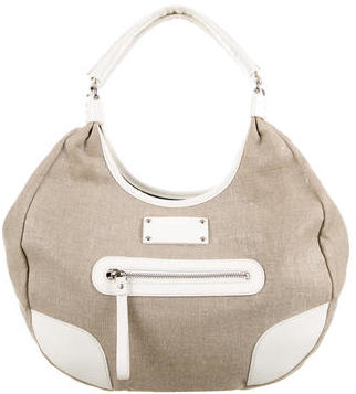 Kate Spade Kate Spade New York Leather-Accented Canvas Hobo