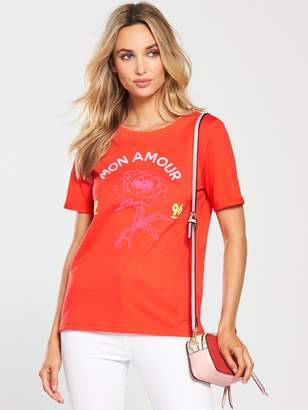 River Island Mon Amour Fitted T-shirt