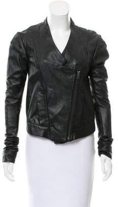 Ohne Titel Leather Asymmetric Jacket