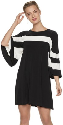 8ff199df220 Women s Nina Leonard Colorblock Trapeze Dress