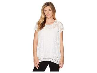 Karen Kane Multi Lace Top Women's Clothing