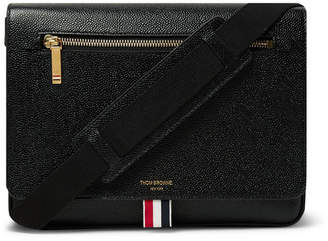 Thom Browne Pebble-Grain Leather Messenger Bag
