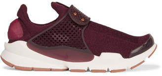 Nike - Sock Dart Knitted Sneakers - Burgundy $130 thestylecure.com