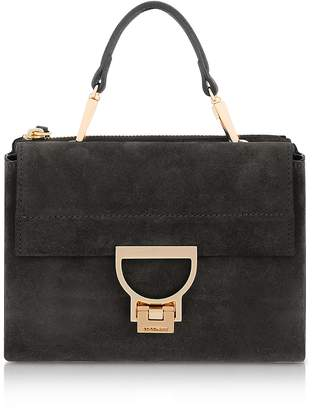 Coccinelle Black Suede Arlettis Mini Bag w/Shoulder Strap