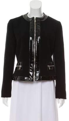 Michael Kors Patent Leather Trim Casual Jacket