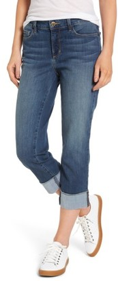 Women's Nydj Dayla Wide Cuff Stretch Capri Jeans $98 thestylecure.com