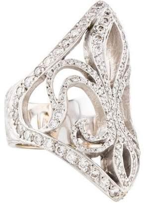 Loree Rodkin 18K Diamond Fleur de Lis Ring