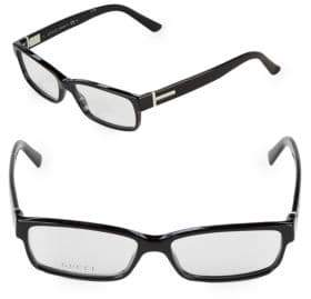 Gucci 55MM Rectangle Optical Glasses