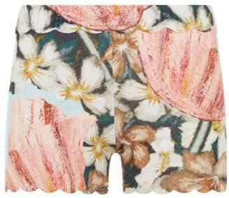 La Perla Knitwear Multicolour Floral Cashmere Shorts