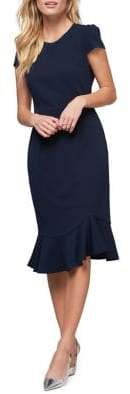 ABS by Allen Schwartz Collection Pebble Crepe Midi Sheath Dress