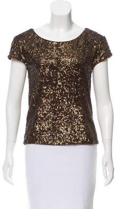 Alice + Olivia Knit Sequined Top