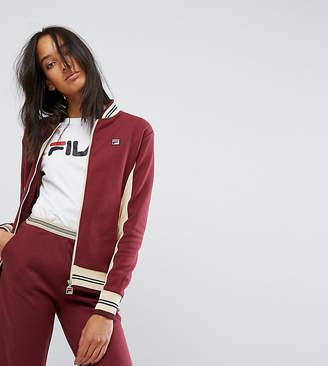 Fila Tall Zip Up Tracksuit Top With Contrast Detail