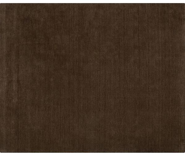 Crate & Barrel Baxter Chocolate 8'x10' Rug