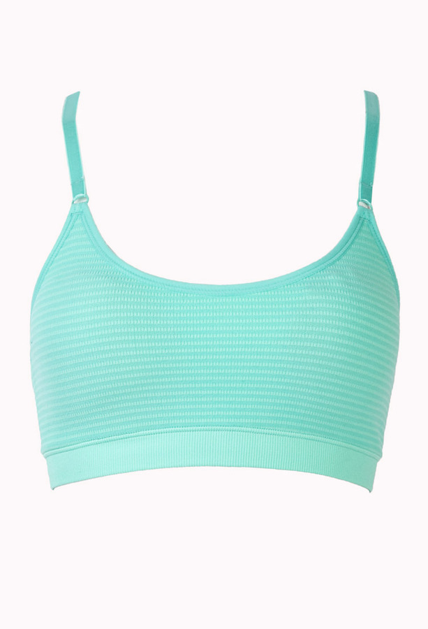 Forever 21 Low Impact - Shadow Striped Sports Bra