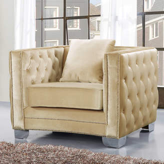Everly Quinn Creekside Velvet Club Chair