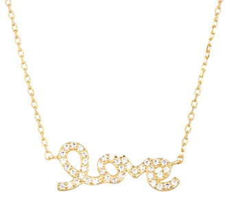 00a4b6963984c6 ADORNIA 14K Over Silver Cursive Love Necklace
